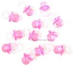 KS - BABY SHOWER 002-1 - MINI PACIFIERS - PINK - Smukk