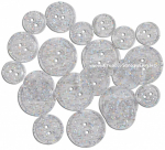 BUTTONS - GLITTER TRANSP 1446 - TRANSPARENT CLEAR GLITTER