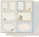 MAJA DESIGN - VINTAGE BABY 752 - JOURNALING CARDS BLUE
