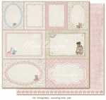 MAJA DESIGN - VINTAGE BABY 753 - JOURNALING CARDS PINK
