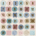 MAJA DESIGN - VINTAGE FROST BASIC 672 - DAYS OF DESEMBER
