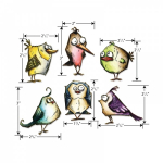 TIM HOLTZ - STAMPERS ANONYMOUS CMS212 - BIRD CRAZY