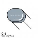 COPIC - VARIOUS INK REFILLS - C5 - COOL GRAY NO.5