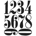 TIM HOLTZ - STAMPERS ANONYMOUS CMS161 - NUMERIC