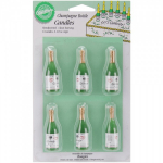 WILTON - CANDLES & CAKE DECORATIONS - CHAMPAGNE BOTTLES