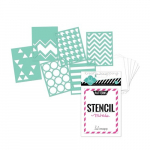 HEIDI SWAPP - MINI STENCIL KIT 1191 - PATTERNS 3x4