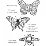 DINA WAKLEY - MEDIA STAMP 44499 - SCRIBBLY INSECTS