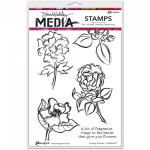 DINA WAKLEY - MEDIA STAMP 46097 - SCRIBBLY FLOWERS