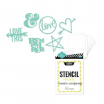 HEIDI SWAPP - MINI STENCIL KIT 1192 - SHAPES 3x4