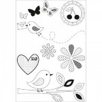 KAISERCRAFT - CLEAR STAMPS CS848 - BUTTERFLY KISSES - KUN 3 IGJE