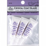 QUILLED CREATIONS - CRYSTAL COAT GLAZE - 3 MINI TUBES