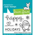 LAWN FAWN - CLEAR STAMPS LF727 - WINTER PENGUIN - 3x2