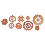 CHEERY LYNN DESIGNS - STEAMPUNK B340 - GEARS