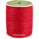 MAY ARTS - BURLAP STRING JUTE SM14 - 1 MM - RED pr.m