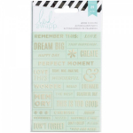 HEIDI SWAPP - STICKERS 312246 - WORD JUMBLES - MINT & GOLD
