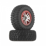 Traxxas 6873A BFGoodrich T/A KM2 Tires/SCT Red Wheels