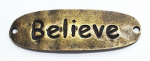 CHARMS - CH0025 - TEKST - BELIEVE BRONSE