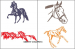 CHEERY LYNN DESIGN - DOUBLE SIDED EMBOSSING PLATE - E109 - HORSE