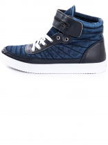 Denim Leather Sneakers
