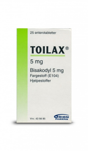 Bilde av TOILAX 5MG 25 TABLETTER