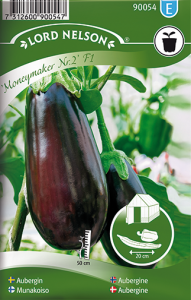 Bilde av Aubergine 'Moneymaker No.2'  F1