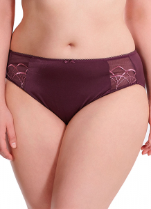 Bilde av Elomi Cate Brief, Str XL-2XL igjen, Black Cherry