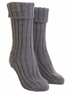 Bilde av Barfota,knitted socks grey
