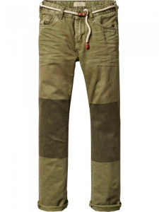 Bilde av Relaxed Slim Fit worker pants delivered with belt fra