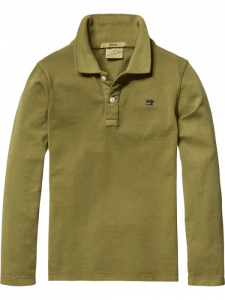 Bilde av Long sleeve garment dyed pique polo