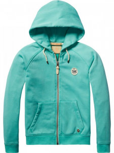 Bilde av Poly cotton hooded zip-through i musca melange fra Scotch