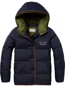 Bilde av Down jacket with detachable double hood construction fra