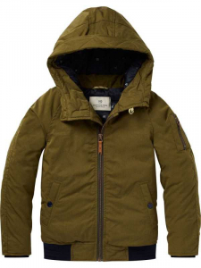 Bilde av Short padded jacket with hood fra Scotch Shrunk