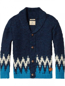 Bilde av Chunky cardigan with intarsia fra Scotch Shrunk