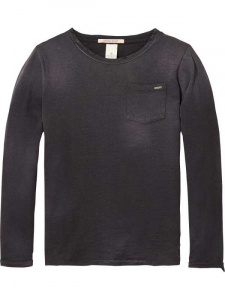 Bilde av Long sleeve tee with heavy washing fra Scotch Shrunk