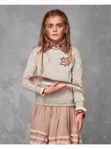 Bilde av Glitter sweat dress with layered cotton skirt fra Scotch