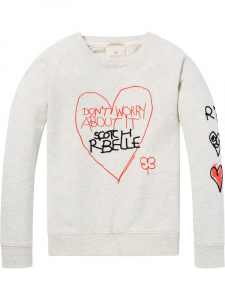 Bilde av Text Artwork Sweater fra Scotch R'belle