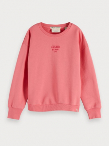 Bilde av Organic cotton crew neck sweat fra Scotch R`Belle