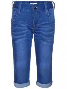 Bilde av Name It - Knebukse Nitclas Slim Medium blue  denim