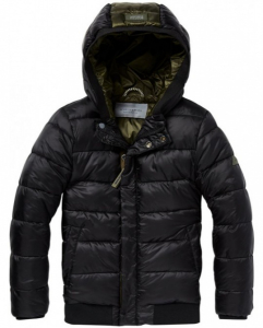 Bilde av Padded jacket with hood in short length fra Scotch Shrunk