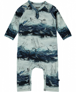 Bilde av Baby gutt Fleming heldress sailor stripe fra Molo