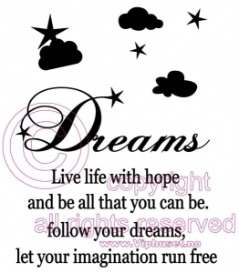Bilde av Dreams live life with hope