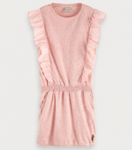Bilde av Jersey dress with woven ruffle fra Scotch R`Belle