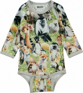 Bilde av Baby body Field Hairy Animals fra Molo