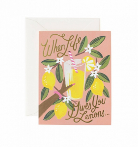 Bilde av When life gives you lemons kort Rifle Paper Co