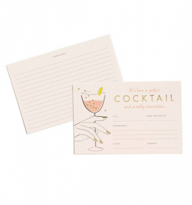 Bilde av Perfect Coctail Recipe Cards Rifle Paper Co