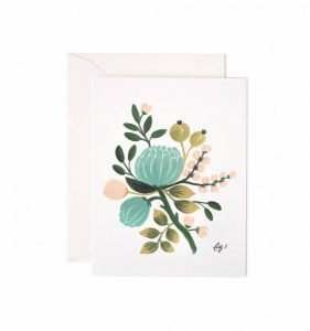Bilde av Blue Floral kort Rifle Paper Co