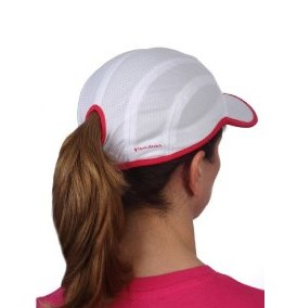 Bilde av Goodbye Girl Ponytail Running Cap - hvit/rosa