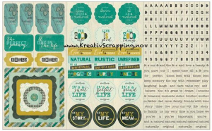 AUTHENTIQUE - CARDSTOCK STICKERS NAT005 - NATURAL