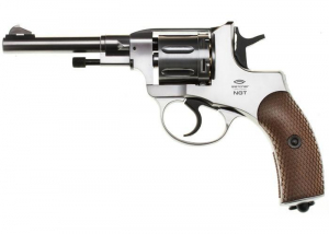 Bilde av Gletcher - 1895 Nagant Revolver Full Metall - 4.5mm BB - Silver