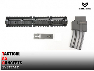 Bilde av TA5C System D - 14in Rail System and Magwell kit For A5